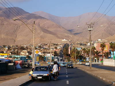 Tocopilla with coast range