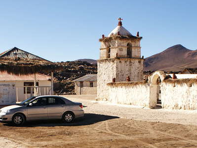 Parinacota  |  Central plaza with church