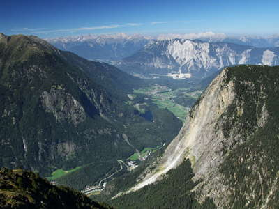 Oetztal Valley with rock avalanches