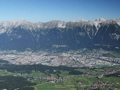 Innsbruck with Karwendel Mountains