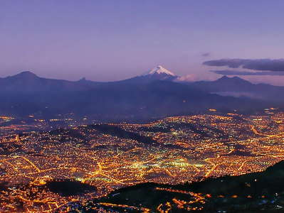 Quito  |  Panorama with Volcán Cotopaxi