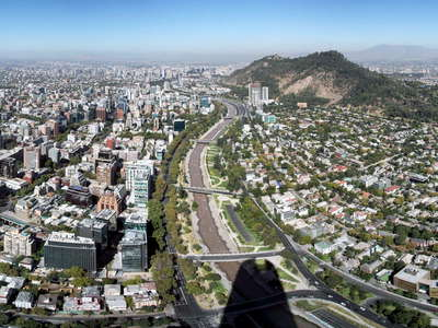 Santiago de Chile  |  Panoramic view from Gran Torre
