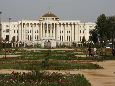Dushanbe  |  Rudaki Park with Palace of Nations