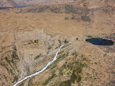 Lake Shiva dam with landslide (Afghanistan)