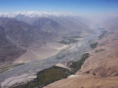 Panj Valley and Hindukush Range