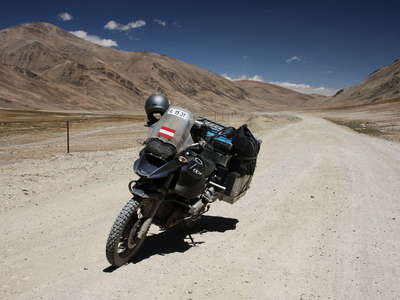 Pamir Highway with Austrian motorbike