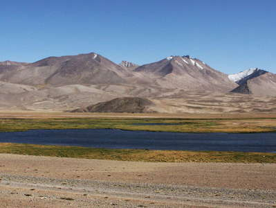 Alichur Pamir with lake