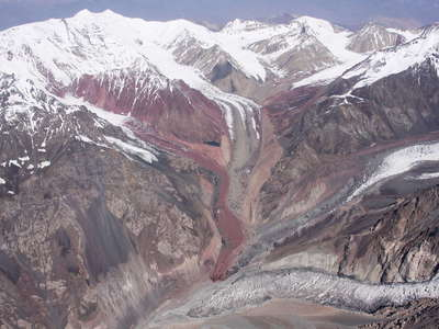 Trans Alai Range  |  Colourful glaciers