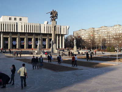 Bishkek  |  Philharmonic Hall and Manas Monument