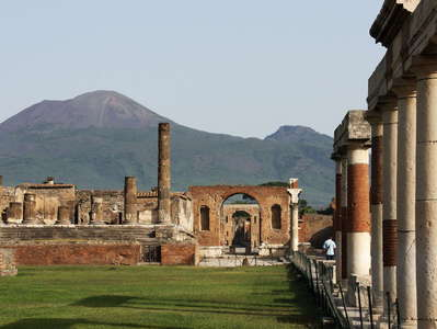 Pompeii  |  Forum with Vesuvio