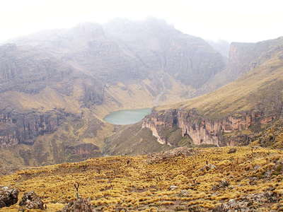 Mount Kenya NP  |  Gorges Valley with Lake Michaelson