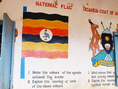 Western Uganda  |  School with wall paintings