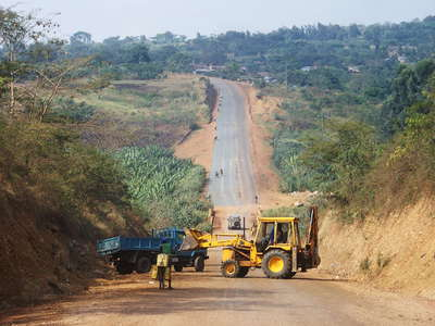 Western Uganda  |  Road construction