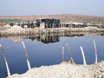Lake Katwe  |  Salt mine