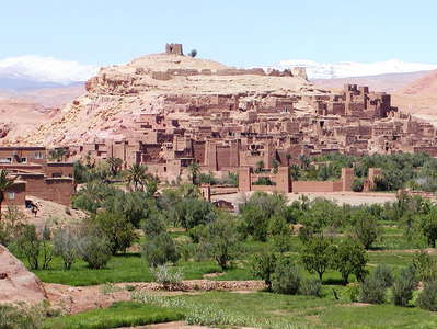 Aït Benhaddou with High Atlas