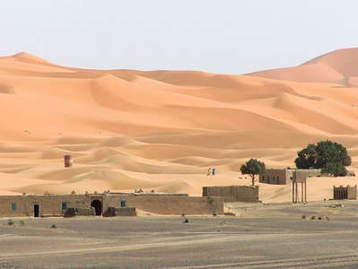 Erg Chebbi with dune field