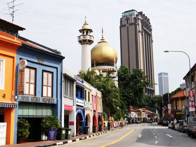 North Bridge Road and Sultan Mosque