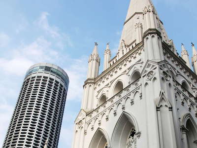 St. Andrew's Cathedral and Raffles City