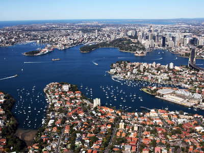 Sydney Harbour with CBD