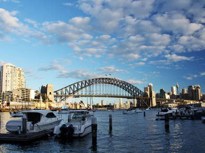 Sydney  |  Lavender Bay and Harbour Bridge