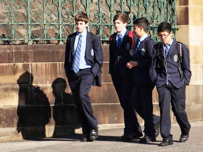 Sydney  |  Students in school uniforms