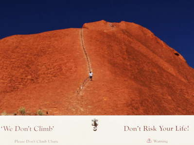 Uluru / Ayers Rock  |  Request and warning