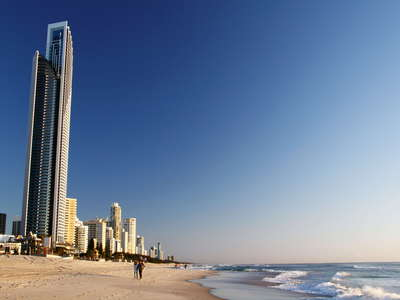 Surfers Paradise  |  Beach and skyline