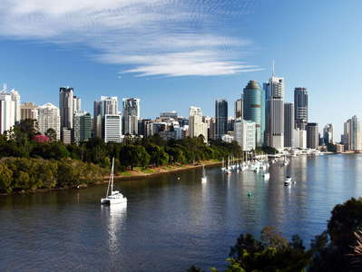Brisbane River and skyline