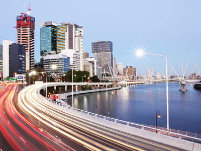 Brisbane  |  Urban traffic and Brisbane River