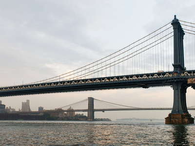 Manhattan Bridge and Brooklyn Bridge