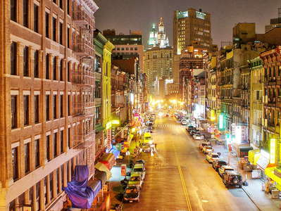Lower Manhattan  |  Chinatown at night