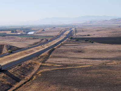 San Joaquin Valley with Interstate 5