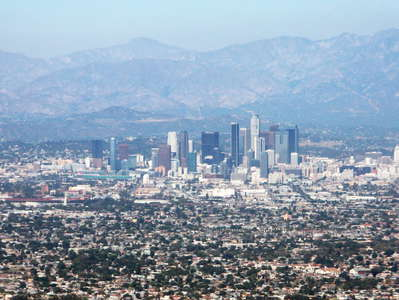 Los Angeles with San Gabriel Mountains
