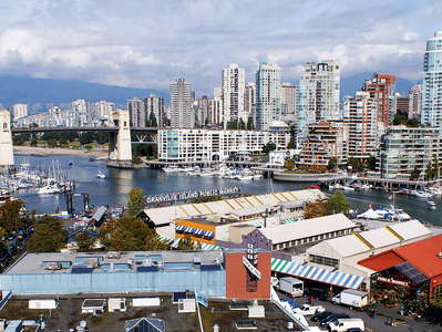 Vancouver  |  Granville Island with Burrard Bridge