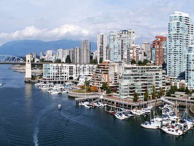 Vancouver  |  False Creek with Burrard Bridge