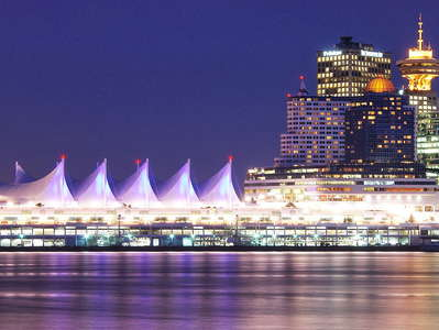 Vancouver  |  Canada Place at night