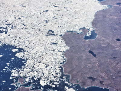 Nunavut  |  Gulf of Boothia with sea ice