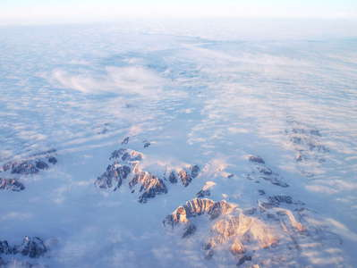 Eastern Greenland  |  Ice shield with nunataks