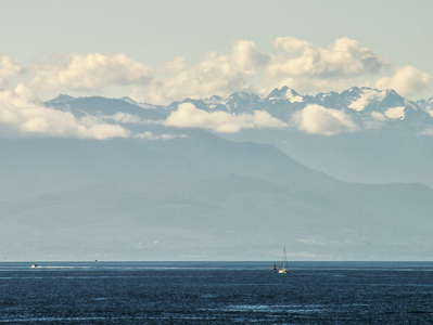 Juan de Fuca Strait and Olympic Mountains