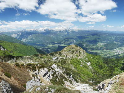 Bohinj Valley and Julian Alps panorama