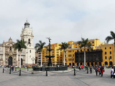 Lima  |  Plaza Mayor with Catedral de Lima