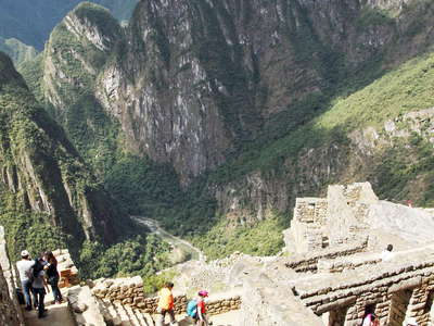 Machu Picchu  |  Lower town and Urubamba Valley