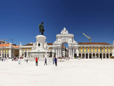 Lisboa  |  Panoramic view of Praça do Comércio