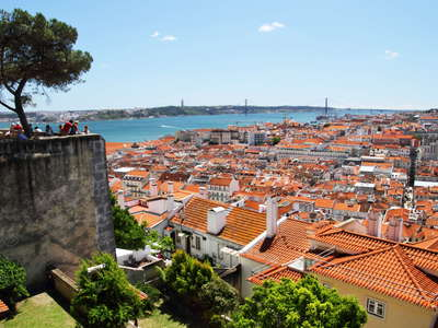 Lisboa  |  City centre with Rio Tejo