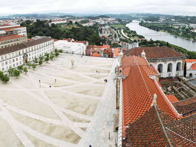 Coimbra  |  University courtyard with Rio Mondego