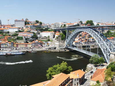 Porto with Rio Douro and Ponte Dom Luís I