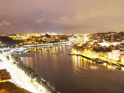 Vila Nova de Gaia and Porto with Rio Douro