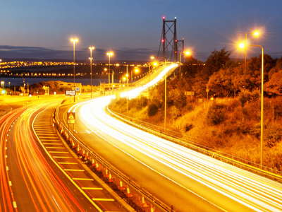 South Queensferry  |  Forth Road Bridge at night