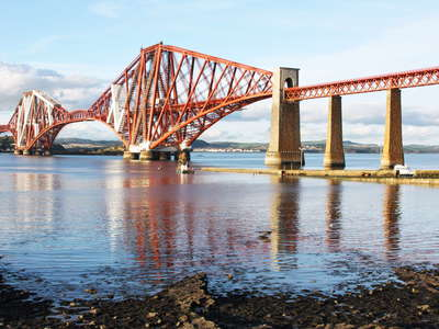 South Queensferry  |  Firth of Forth with Forth Bridge