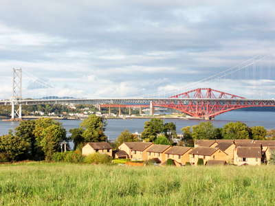 South Queensferry  |  Firth of Forth with Forth bridges
